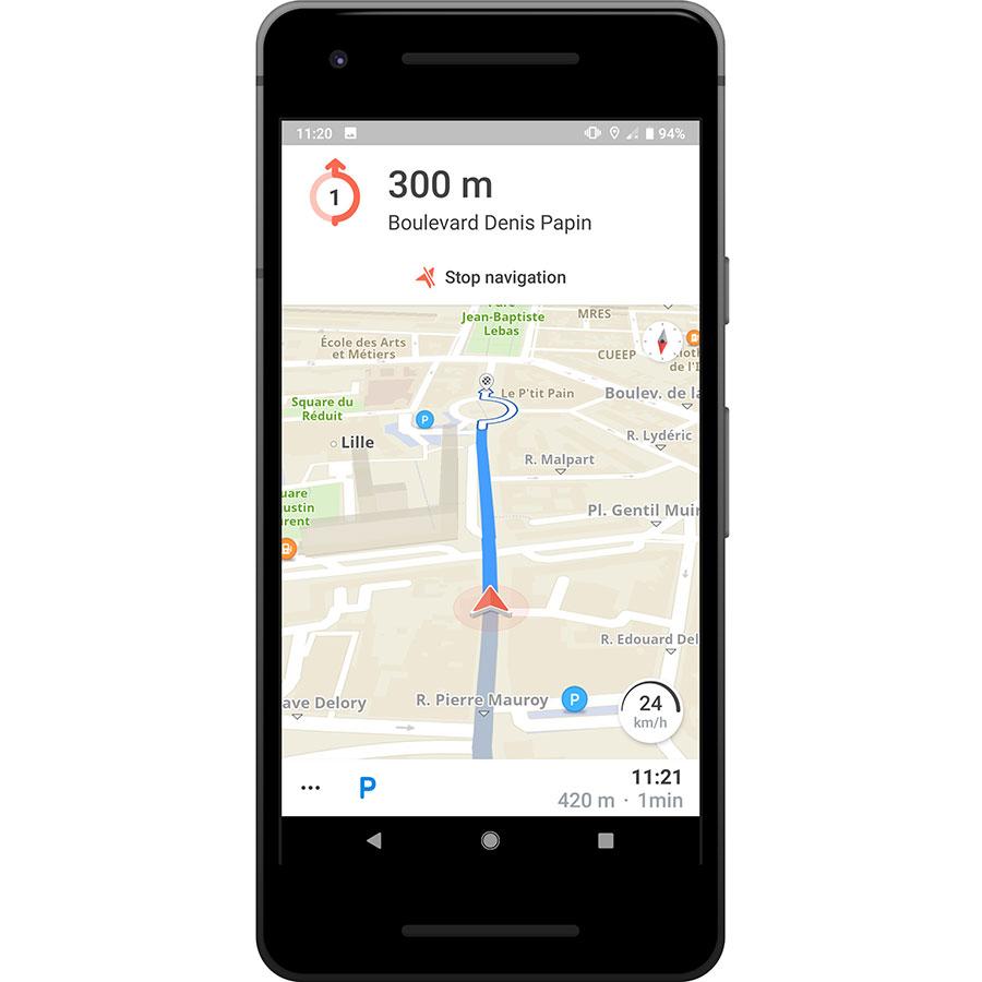 Karta GPS - Offline Navigation - Exemple de navigation