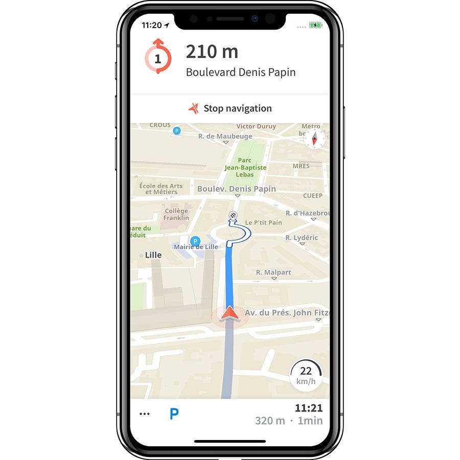 Karta GPS - Sat Nav Maps - Exemple de navigation