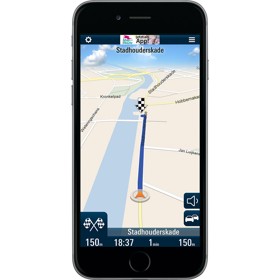 Map and Route V-Navi Western Europe - Exemple de navigation