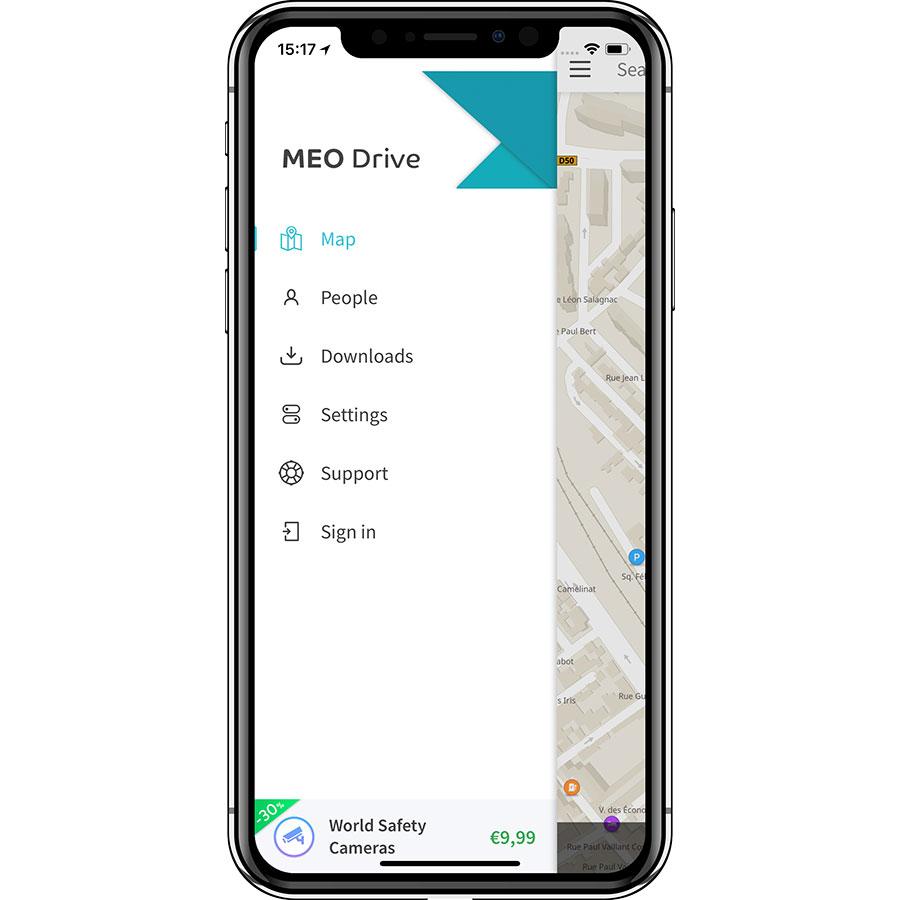 Meo Drive - Menu principal