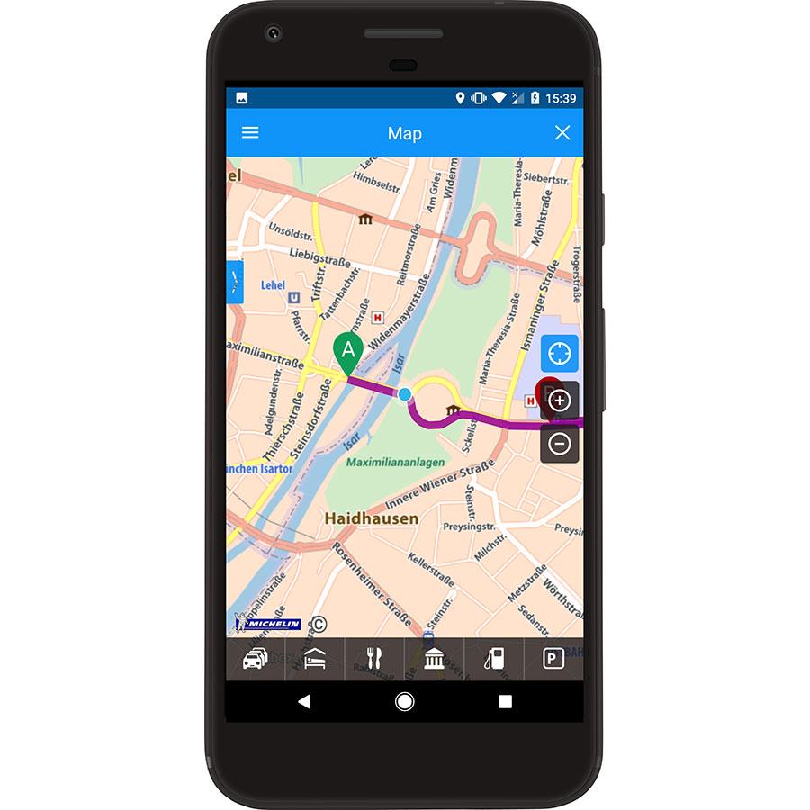 Michelin ViaMichelin – Route GPS Traffic - Exemple de navigation
