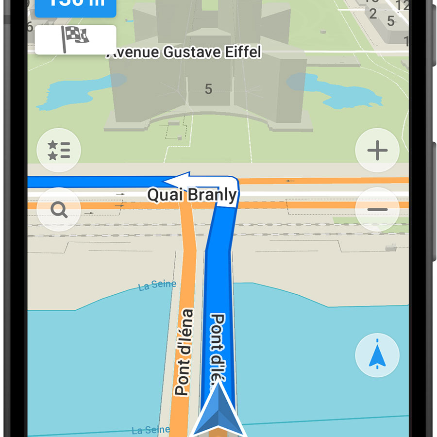 My Com MAPS.ME – Offline Map and Travel Navigation - Exemple de navigation