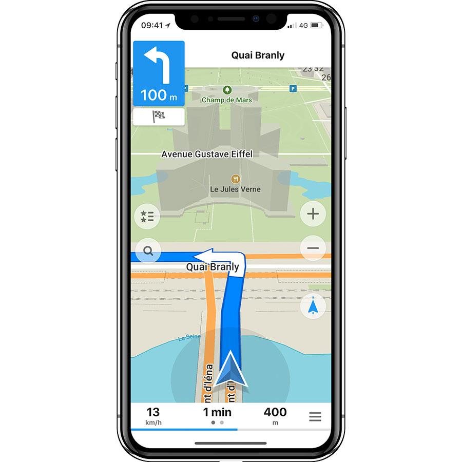 My Com MAPS.ME - Offline Map & Nav - Exemple de navigation