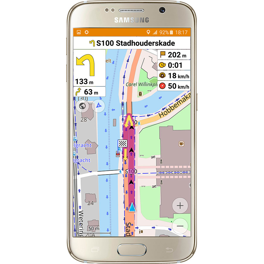 OsmAnd Maps & Navigation - Exemple de navigation