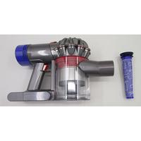 Dyson V8 Absolute - Bac à poussières et ses filtres démontés