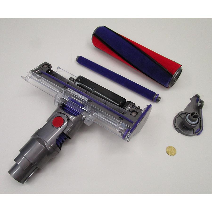 Dyson V10 Parquet - Axe rotatif de la brosse démontable