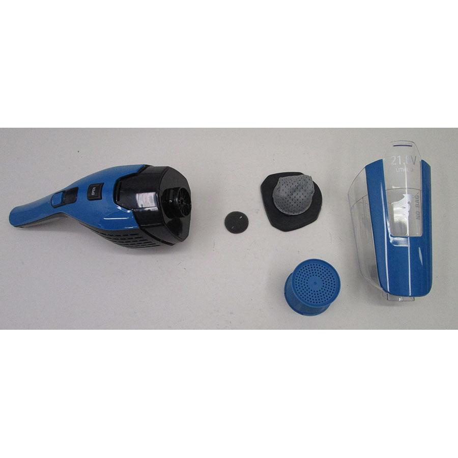 Rowenta RH6751WO Dual Force 2 en 1  - Bac à poussières et ses filtres démontés