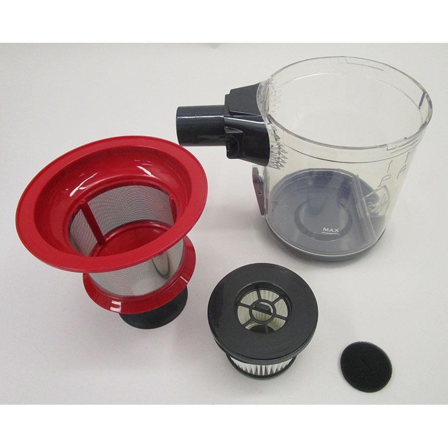 Silvercrest (Lidl) SHAZ22.2C3 IAN 317435 - Bac à poussières et ses filtres démontés