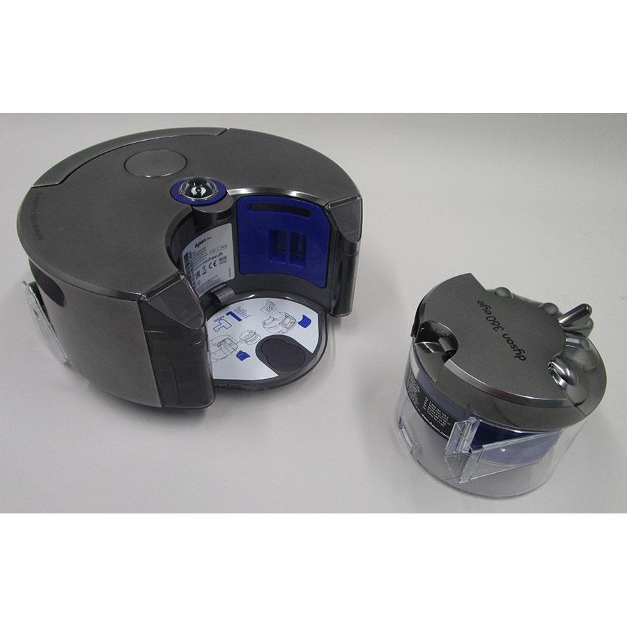 Dyson 360 Eye - Réservoir à poussière sorti