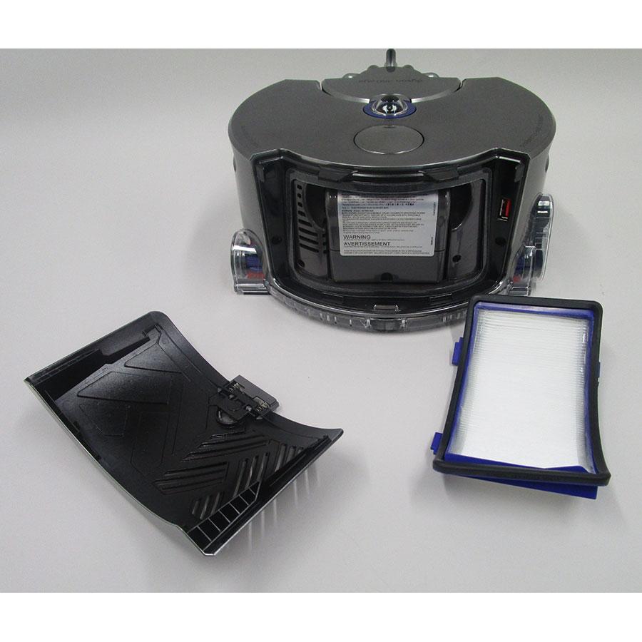 Dyson 360 Eye - Filtre sortie moteur démonté