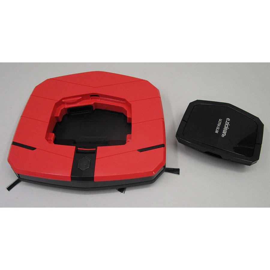 E.Ziclean Ultra Slim Red V2 - Réservoir à poussière sorti