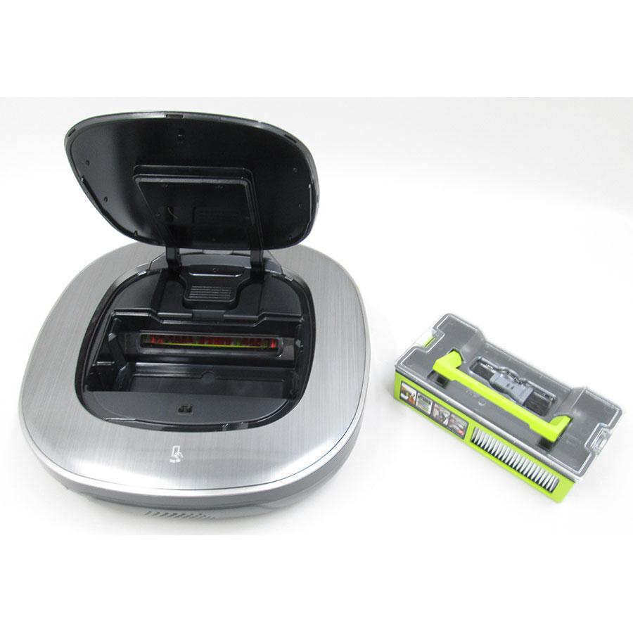 LG VR9647PS Home-Bot Turbo+ Homeguard - Réservoir à poussière sorti