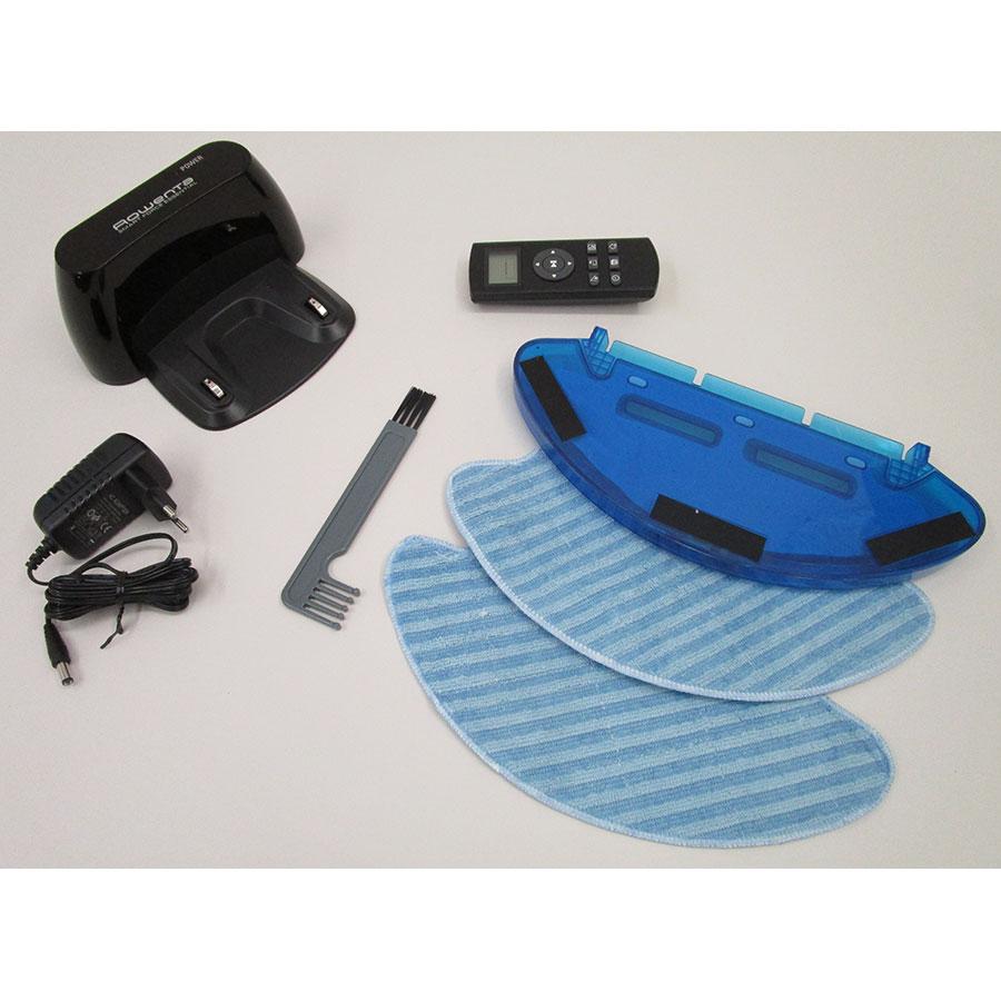 Rowenta Smart Force Essential Aqua RR6976WH  - Station de charge et accessoires fournis