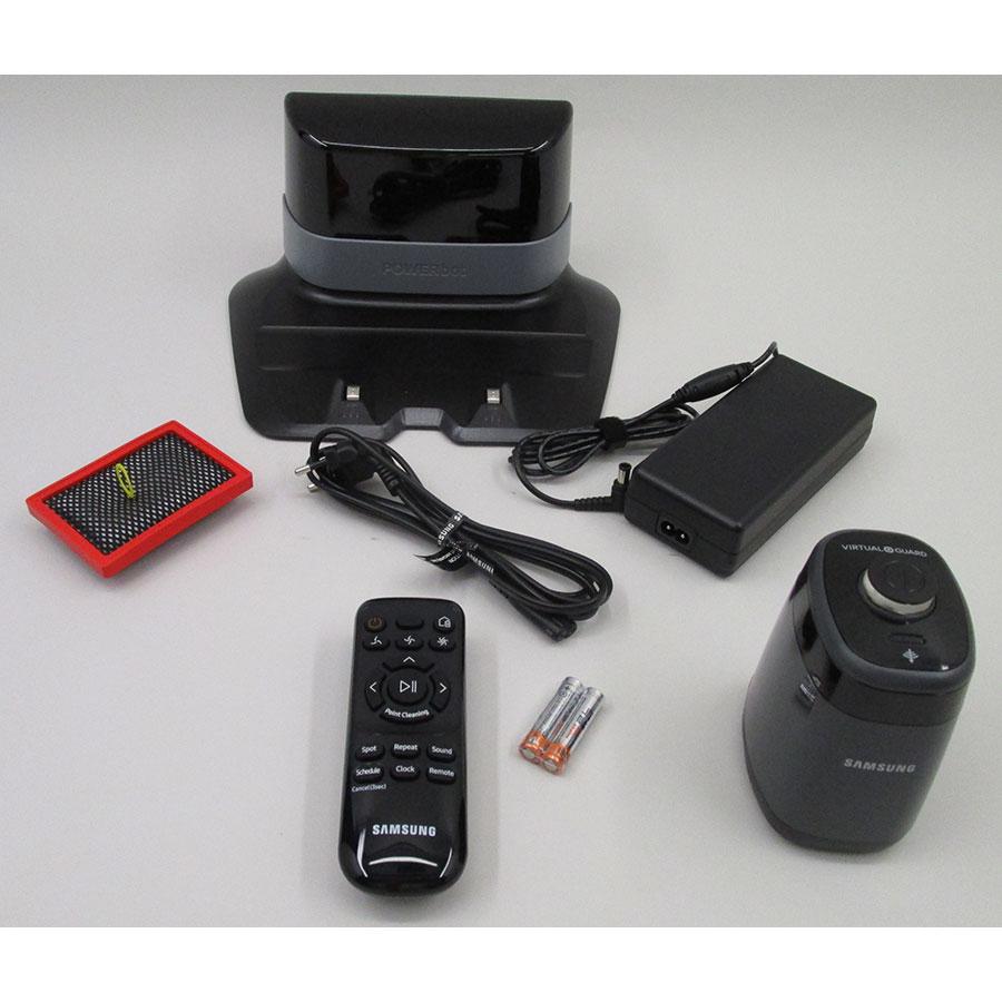 Samsung PowerBot SR2FM7070WD(*9*) - Station de charge et accessoires fournis