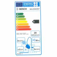 Bosch BGL25MON7 Mini MoveOn - Étiquette énergie