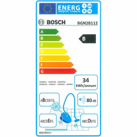 Bosch BGN2B112 GL20 Bag & bagless - Étiquette énergie