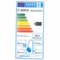 Bosch BGS1UPower GS-10 - Étiquette énergie