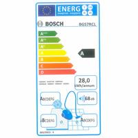 Bosch BGS7RCL Relaxx'x Ultimate - Étiquette énergie