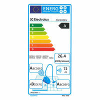 Electrolux ZSPGreen Silent Performer - Étiquette énergie