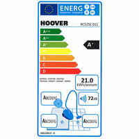 Hoover RC52SE Reactiv - Étiquette énergie