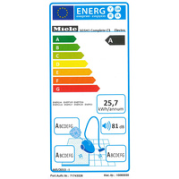 Miele Complete C3 Electro EcoLine - Étiquette énergie