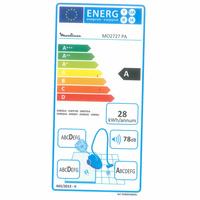 Moulinex MO2727PA City Space Cyclonic - Étiquette énergie