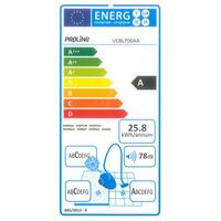 Proline (Darty) VCBL700AA - Étiquette énergie