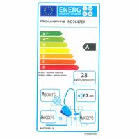 """Rowenta RO7647EA Silence Force Cyclonic 4A """"Parquet Pro"""" - Étiquette énergie"""