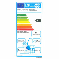 """Rowenta RO7681EA Silence Force Cyclonic 4A """"Animal Care Pro"""" - Étiquette énergie"""