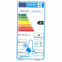 Tornado TOEG43IGM Easy Go - Étiquette énergie