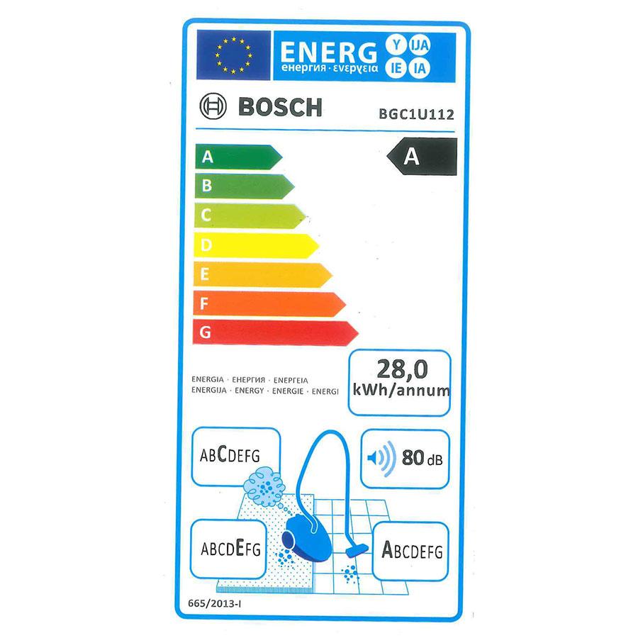 Bosch BGC1U112 Easyy'y GS-10 - Étiquette énergie