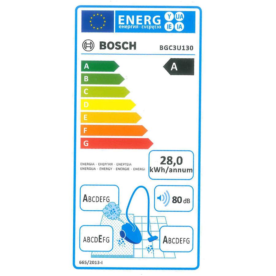 Bosch BGC3U130 Relyy'y GS-30 - Étiquette énergie