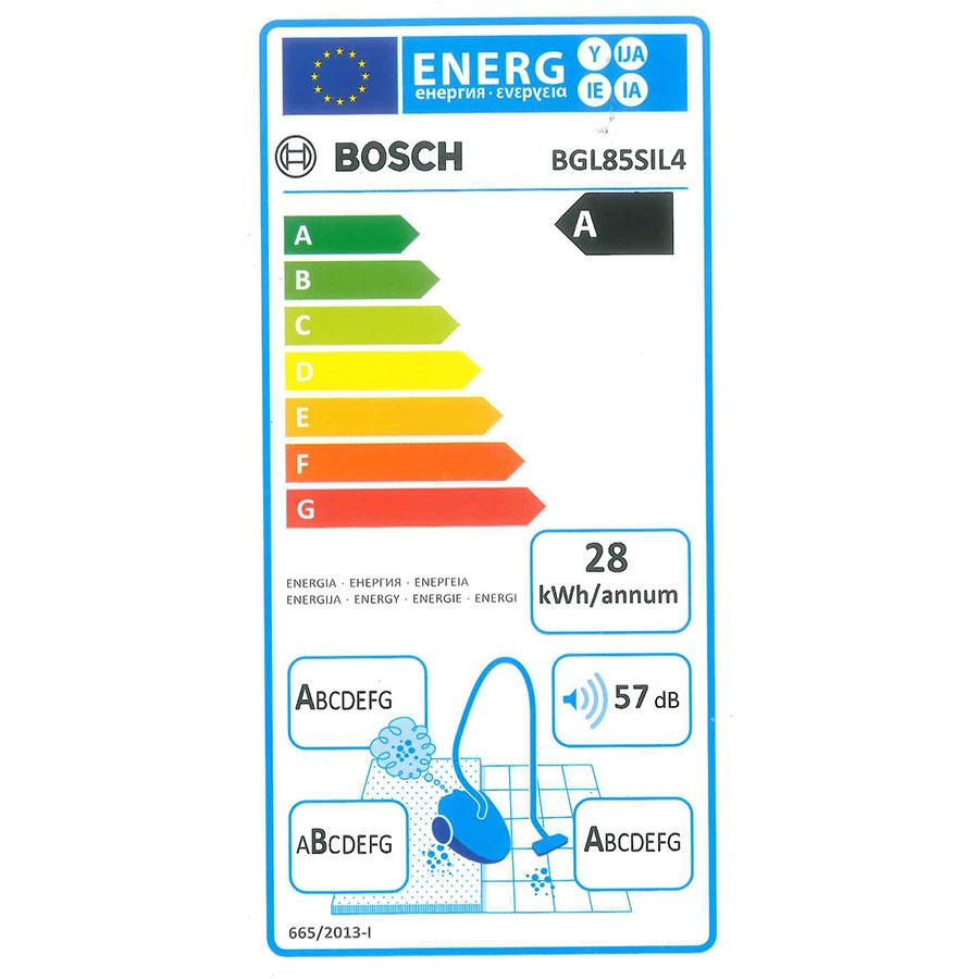 Bosch BGL85SIL4 GL-85 In'genius - Étiquette énergie