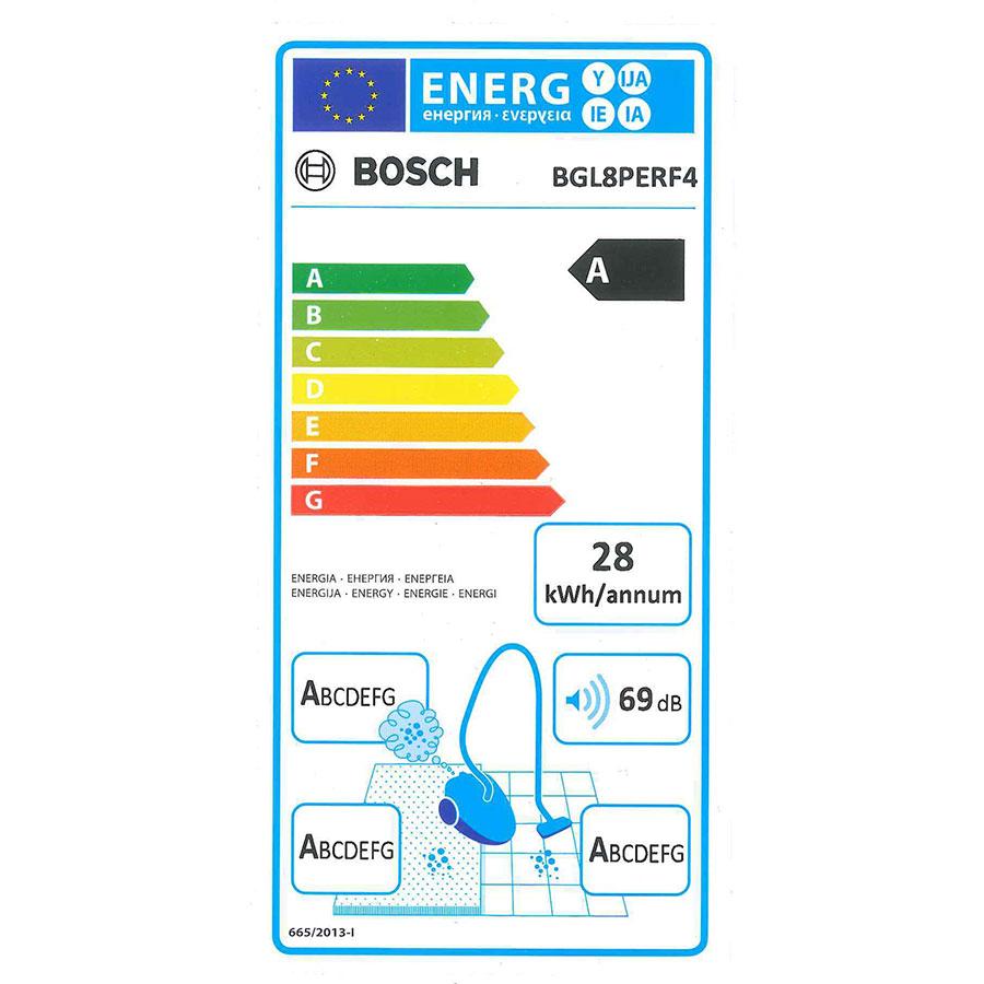Bosch BGL8PERF4-GL-80 Ingenius - Étiquette énergie