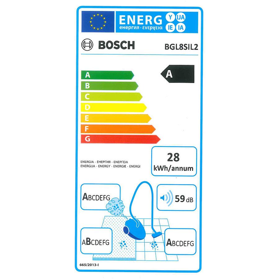 Bosch BGL8SIL2 GL-80 Ingenius - Étiquette énergie