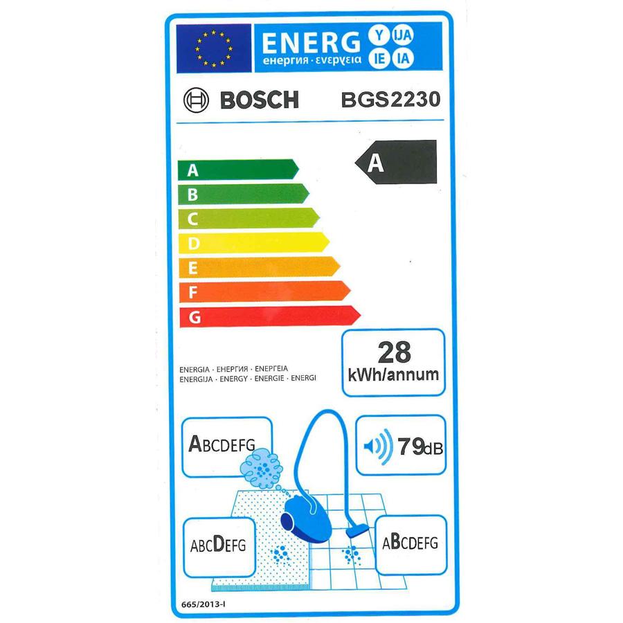 Bosch BGS2230 GS-20 Easyyy - Étiquette énergie