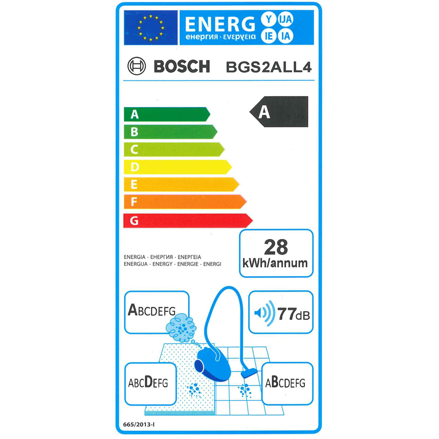 Bosch BGS2ALL4 Easyyy - Étiquette énergie