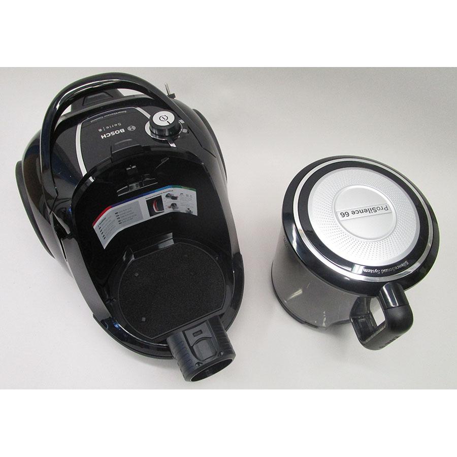 Bosch BGS41SIL66 ProSilence - Bac à poussières sorti