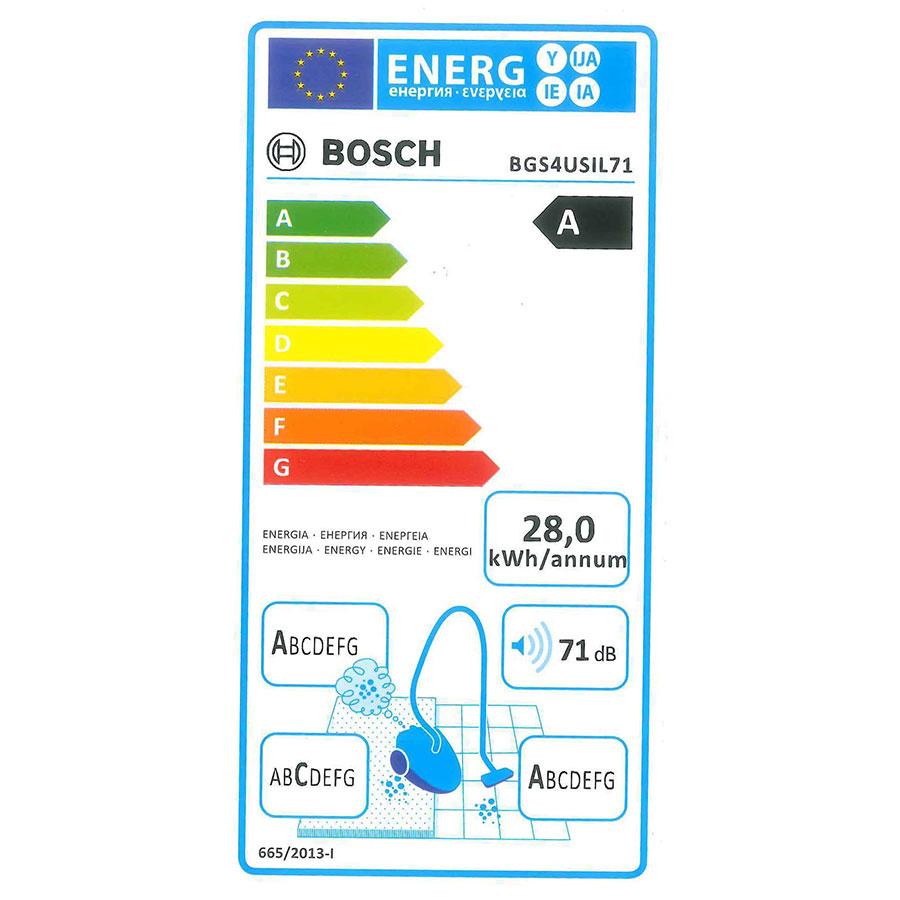 Bosch BGS4USIL71 Runn'n GS-40 - Étiquette énergie