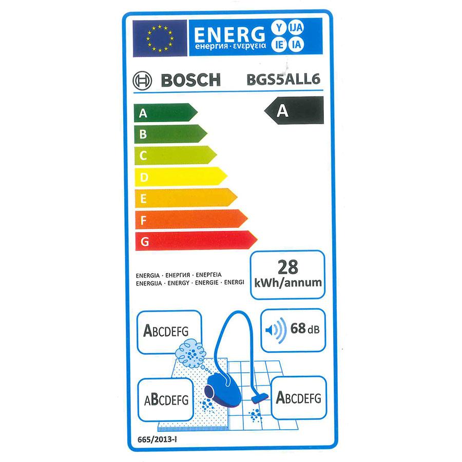 Bosch BGS5ALL6 Relaxx'x GS-50 - Étiquette énergie