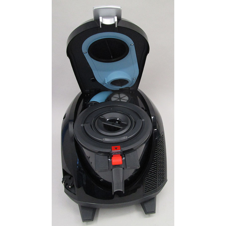 Bosch BGS5ECO66R Relaxx'x ProSilence66 - Retrait du compartiment à poussières