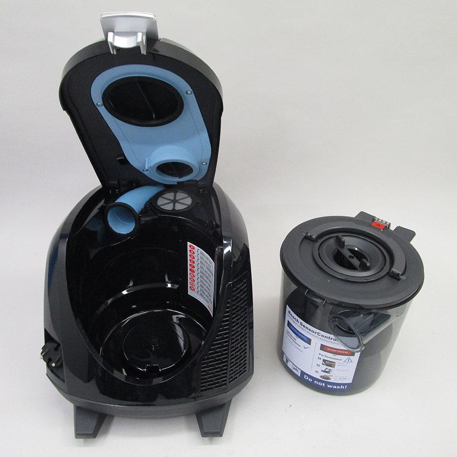Bosch BGS5ECO66R Relaxx'x ProSilence66 - Bac à poussières sorti