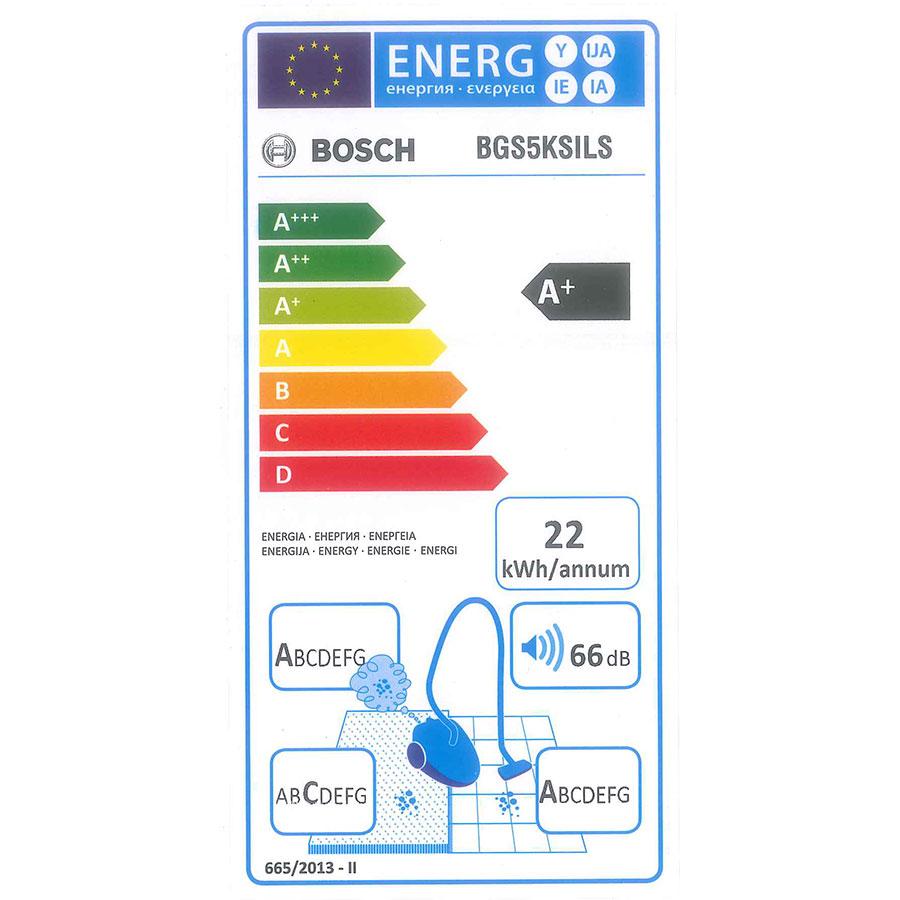 Bosch BGS5KSILS Relaxx'x ProSilence66 - Étiquette énergie