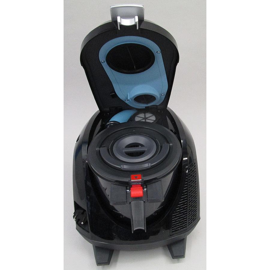 Bosch BGS5KSILS Relaxx'x ProSilence66 - Retrait du compartiment à poussières