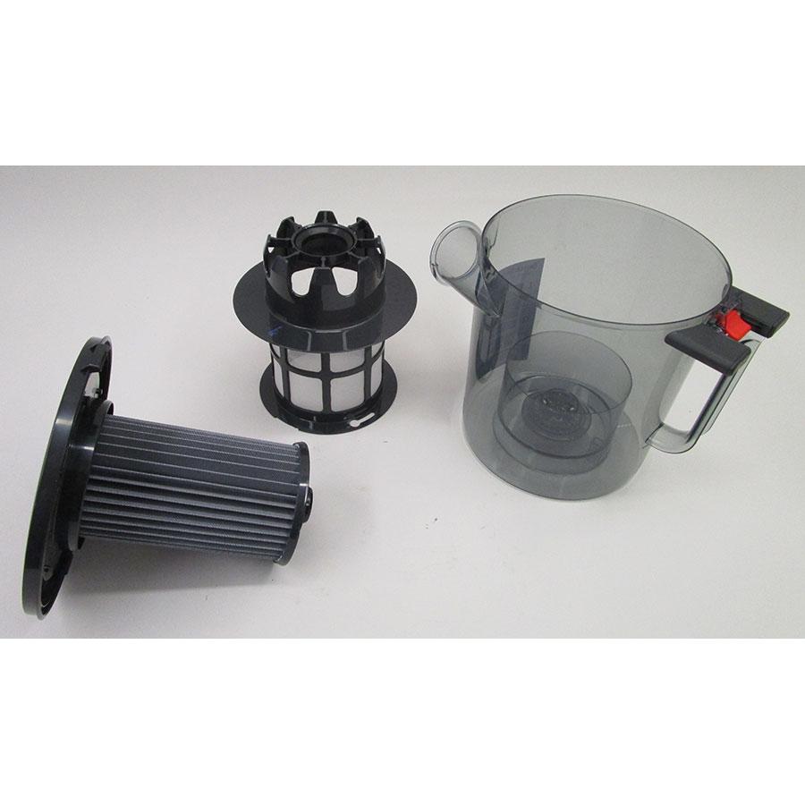 Bosch BGS5KSILS Relaxx'x ProSilence66 - Réservoir à poussières avec son filtre sorti