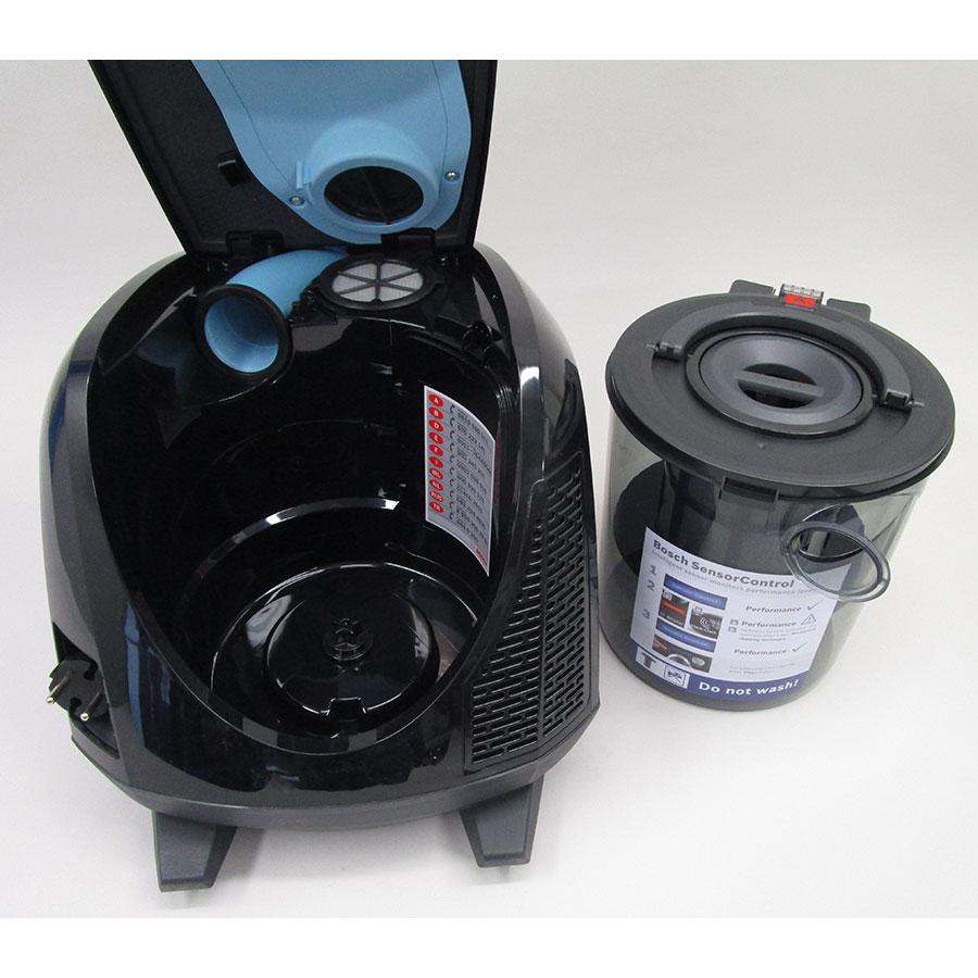 Bosch BGS5KSILS Relaxx'x ProSilence66 - Bac à poussières sorti