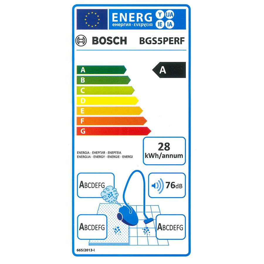 Bosch BGS5PERF GS-50 Relaxx'x - Étiquette énergie