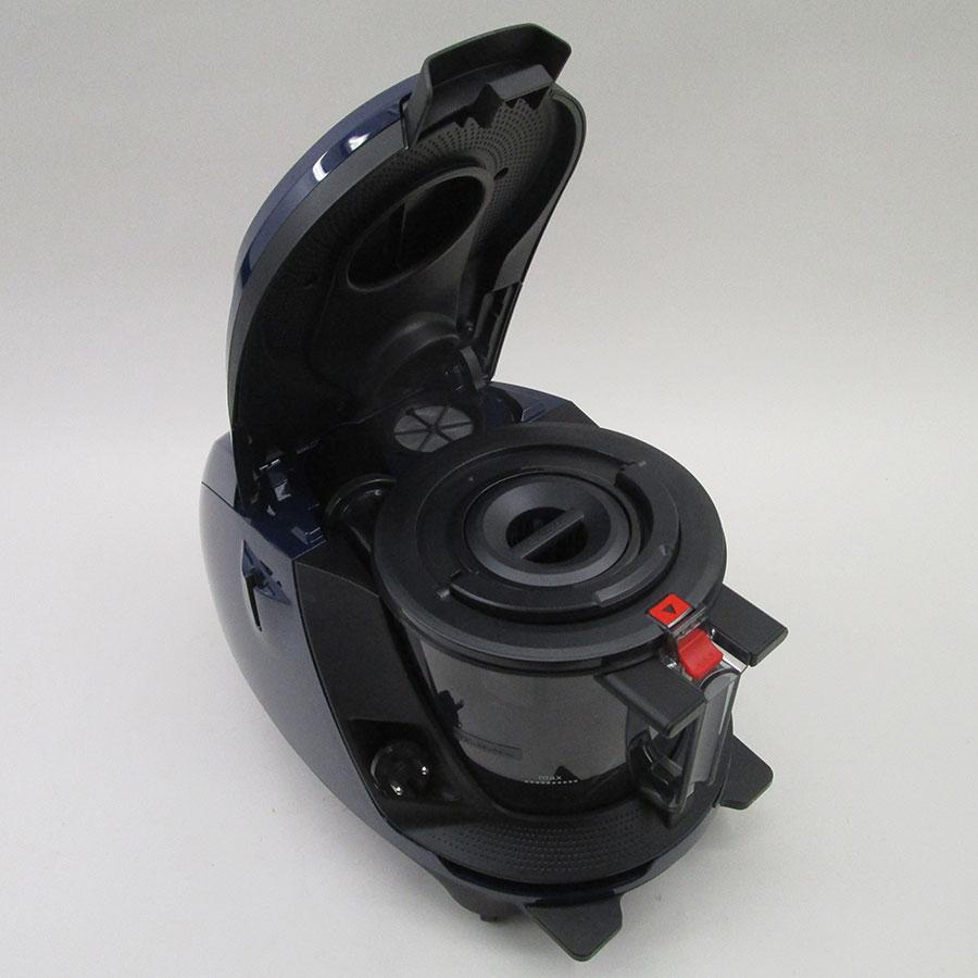 Bosch BGS7ALL68 GS70 Relaxx'x Ultimate - Accès au bac à poussières