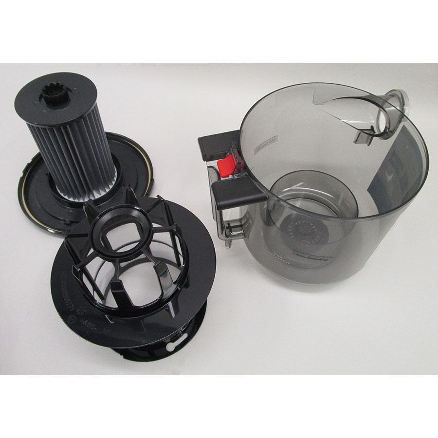 Bosch BGS7MS64 Relaxx'x Ultimate ProSilence64 - Réservoir à poussières avec son filtre sorti