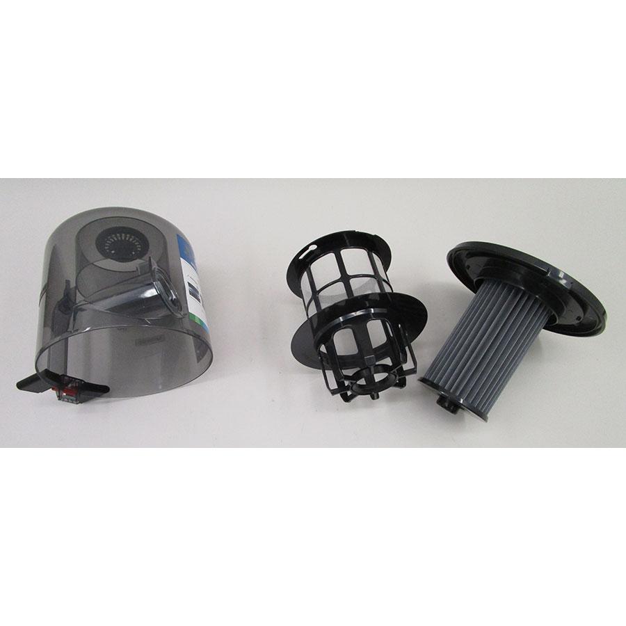 Bosch BGS7SIL64 GS70 Relaxx'x Ultimate - Réservoir à poussières avec son filtre sorti